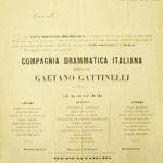Locandina della compagnia diretta da Gaetano Gattinelli