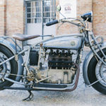 (5) Fabrique Nationale M50. Cilindrata 750cc, anno 1925, quattro cilindri, Belgio.