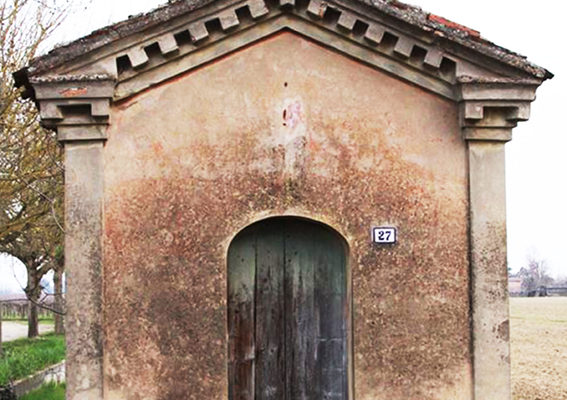 Vista esterna dell'Oratorio Rossini, località Cassanigo di Cotignola