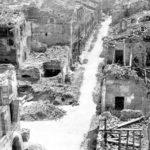 Immagine di Cotignola distrutta dai bombardamenti