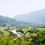 La conca di Kobarid vista dall'alto del Sacrario. Foto: Paolo Gagliardi