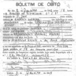 """Certificato di morte, La professione indicata è """"iscritor"""" (scrittore). Stato civile """"solteiro"""" (celibe)."""