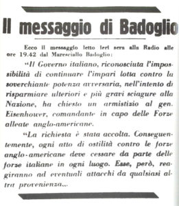 Cassibile: il messaggio di Badoglio