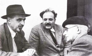 Ventotene: Ernesto Rossi con Altiero Spinelli e Luigi Rinaudi.