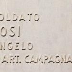 Lapide di Angelo Bosi nel Sacrario Militare di Redipuglia. (foto: Paolo Gagliardi)