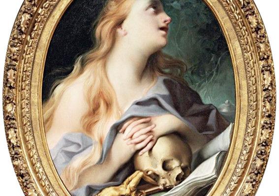 Ignaz Stern, Maddalena penitente, olio su tela, cm. 87x65,5