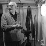 Vincenzo Gianstefani nella cabina di proiezione (1994).