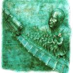 L'opera, di Rabitti, è stata donata alla Fondazione Memoria della Deportazione da Piero e Tina Ravelli.
