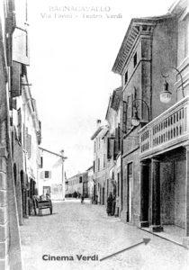 La prima sede del cinema in via Farini, anno 1913.